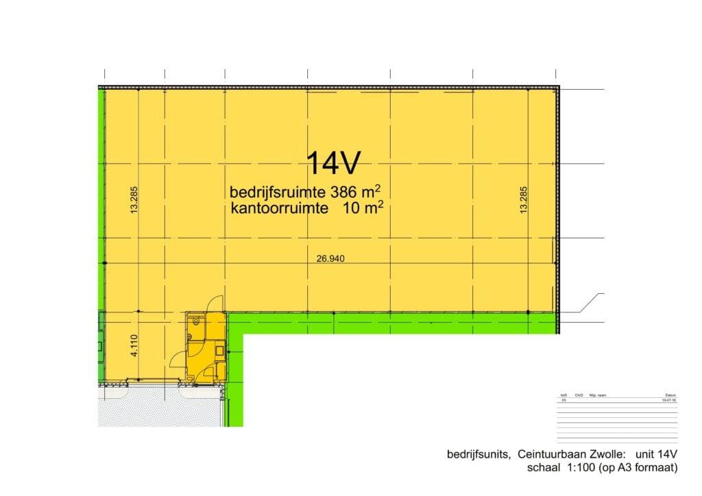 Bedrijfsruimte Kantoorruimte te huur Zwolle Ceintuurbaan 14V Plattegrond 2